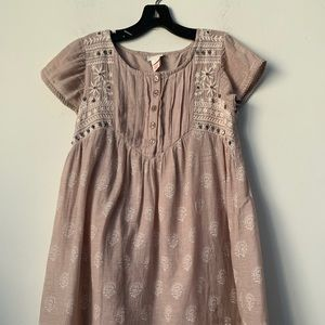 Monsoon Cotton Girl's Dress with Gems size 9